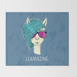 LLAMAZING llama Throw Blanket