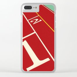 Running Track 123 Clear iPhone Case