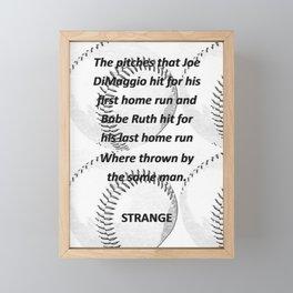 Baseball Framed Mini Art Print