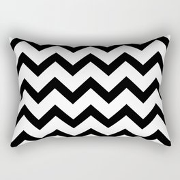 Simple Black and white Chevron pattern Rectangular Pillow