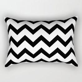Simple Black and white Chevron pattern Rectangular Pillow