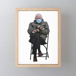 Unbothered Bernie Sanders Framed Mini Art Print