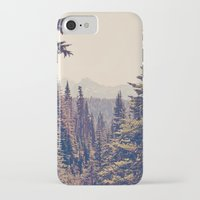 nature iPhone & iPod Cases featuring Mountains through the Trees by Kurt Rahn