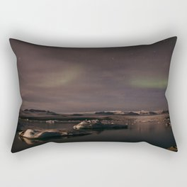 Glacier Lagoon By Night Rectangular Pillow