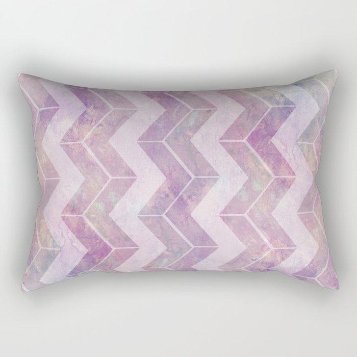 Watercolor pink pattern chevron Rectangular Pillow