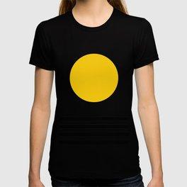 Midcentury Yellow Minimalist Sunset With Black Stripes T-shirt
