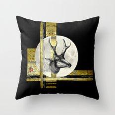 Golden. A. Throw Pillow