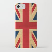 union jack iPhone & iPod Cases featuring Union Jack by NicoWriter
