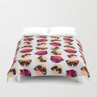 butterflies Duvet Covers featuring Butterflies by Heart of Hearts Designs