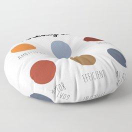 Enneagram 3 Floor Pillow