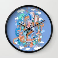 kpop Wall Clocks featuring George's place by Polkip
