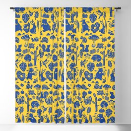 Pattern - forest party Blackout Curtain