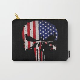 USA flag Skull Carry-All Pouch