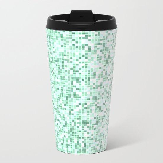 Bathroom pixels Metal Travel Mug