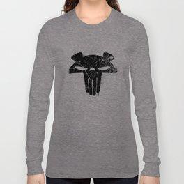 The Mega Plush Skull Long Sleeve T-shirt