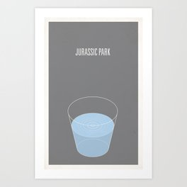 Jurrasic Park minimalist poster Art Print