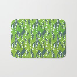 Lily of the Valley Pattern Bath Mat