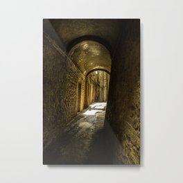 Stone alley of the middle evo era. Metal Print