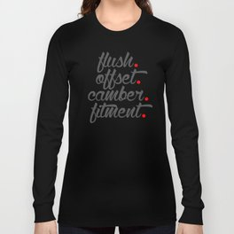 flush offset camber fitment v4 HQvector Long Sleeve T-shirt