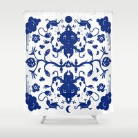 jungle Shower Curtains featuring JUNGLE by RUEI