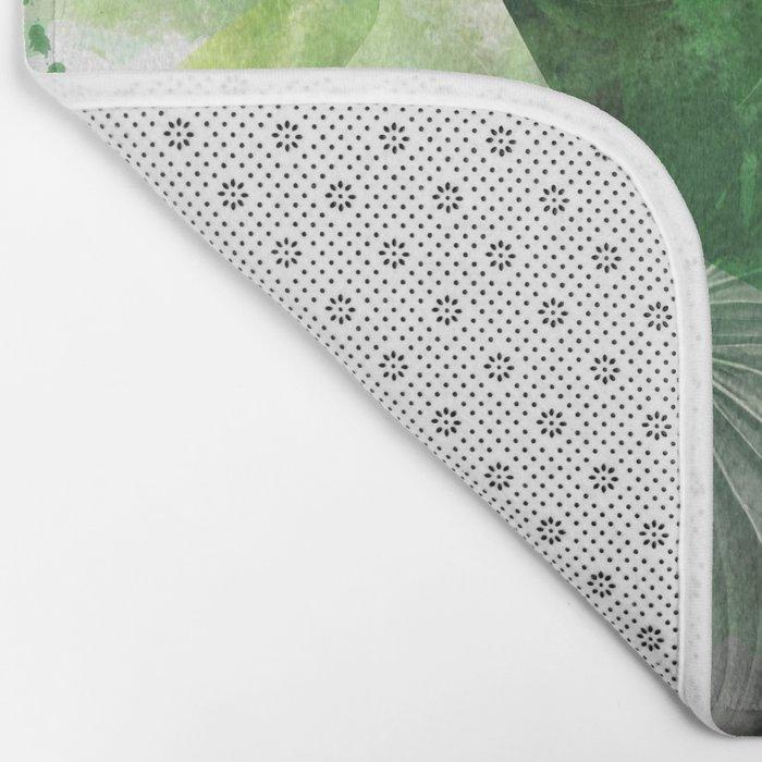 tropical green  Bath Mat