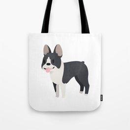 Happy Boston Terrier Tote Bag