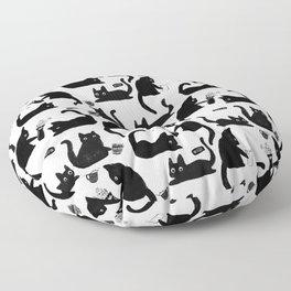 Bad Cats Knocking Stuff Over Floor Pillow