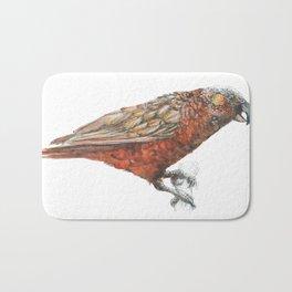New Zealand parrot, the Kaka Bath Mat
