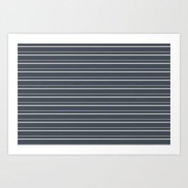 Benjamin Moore 2019 Color of the Year 2019 Metropolitan Light Gray on Hale Navy Blue Gray HC-154 Art Print