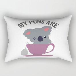 My Puns Are Koala Tea Rectangular Pillow