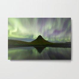 Aurora over Kirkjufell Metal Print