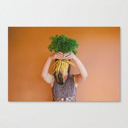 Carrot Face Canvas Print