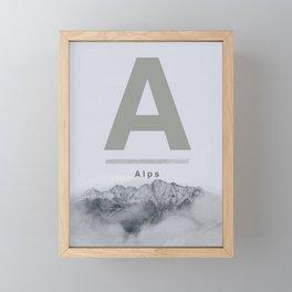 Alps Framed Mini Art Print