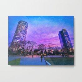 Purple times Metal Print