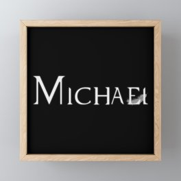 Archangel Michael with Feather Framed Mini Art Print