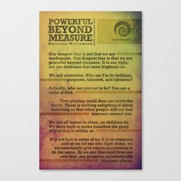 Powerful Beyond Measure poster Canvas Print