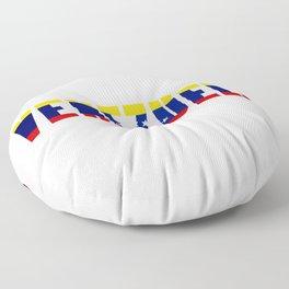 Venezuela Lettering Floor Pillow