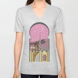 Pink Dubai Unisex V-Neck