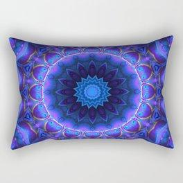 Cold Fire Mandala Rectangular Pillow