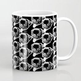 PUG SUKI. TONGUE OUT PATTERN 1 - BLACK. Coffee Mug