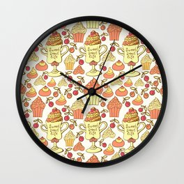 Sweet desserts. Wall Clock