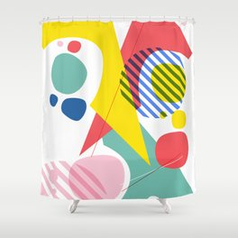 Abstract Pop IV Shower Curtain
