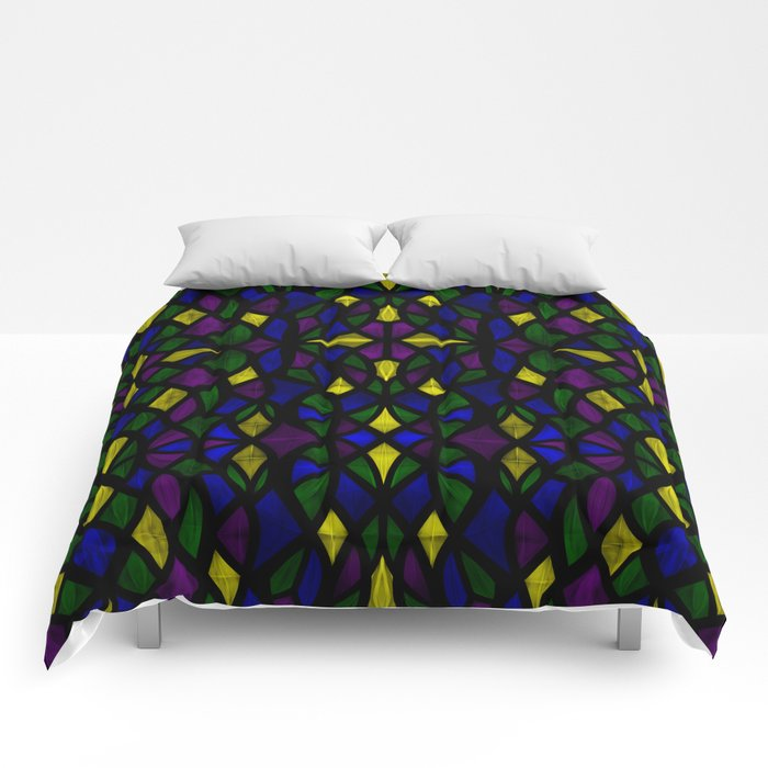 Stained Glass Scales Comforters