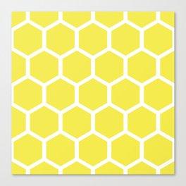 Honeycomb pattern - lemon yellow Canvas Print