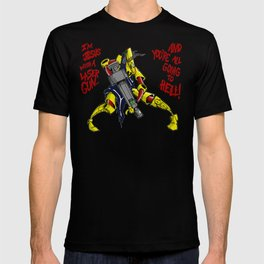 Scud The Disposable Assassin: Jesus with a Laser Gun! T-shirt