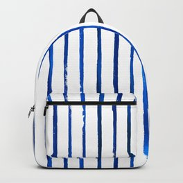 Indigo Stripes - Blue and White Backpack