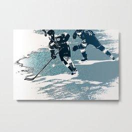 The Break- Away - Hockey Players Metal Print