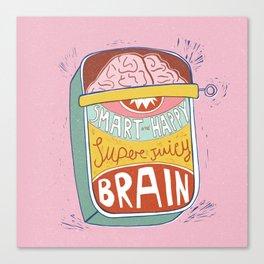 Canned Brain Canvas Print
