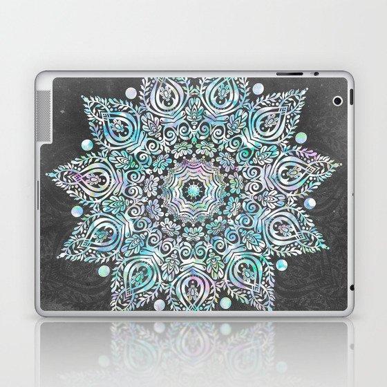 Mermaid Mandala on Deep Gray Laptop & iPad Skin