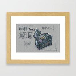 Jonesy's Cat Carrier Framed Art Print
